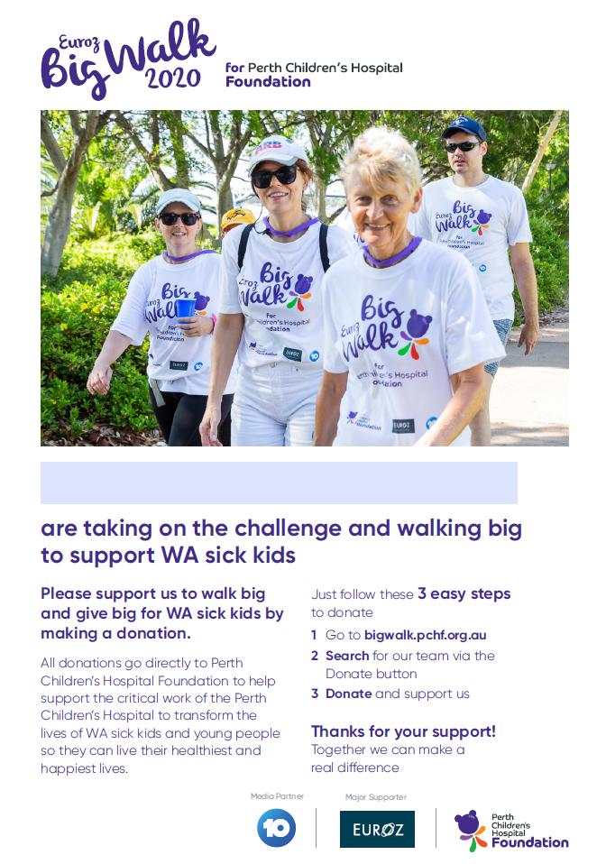 P2P Team Fundraiser Poster